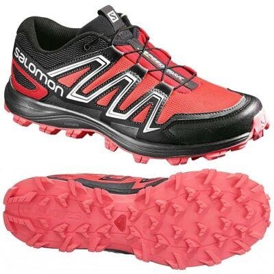 de96e337ae Salomon Speedtrak 4 (női) futócipő (korall-fekete) L39063600 - Terepre