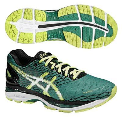 Asics Gel Nimbus 18 (férfi) futócipő (zöld-sárga-fekete) T600N-8807